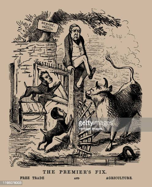 The Premier's Fix Free Trade and Agriculture Punch April 19th 1845 Private Collection Artist Anonymous