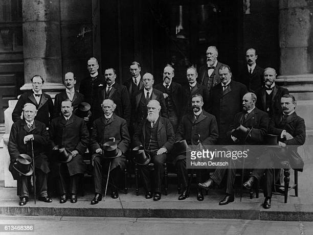 The premiers of the British Empire colonies meet at the Colonial House for the Conference of Colonial Premiers Winston Churchill then Colonial...