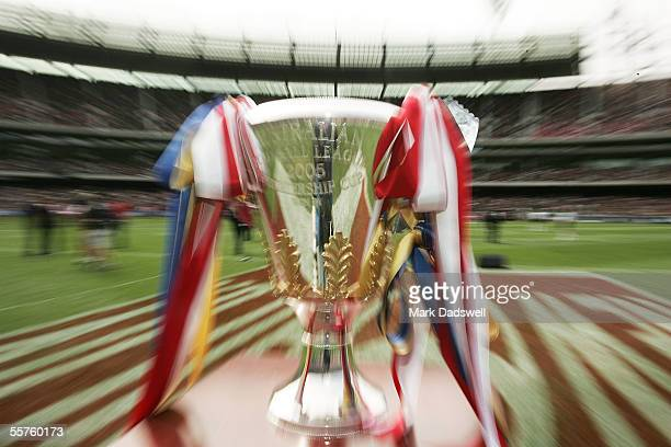 The Premiership trophy is displayed prior to the 2005 AFL Grand Final between the Sydney Swans and the West Coast Eagles at the Melbourne Cricket...