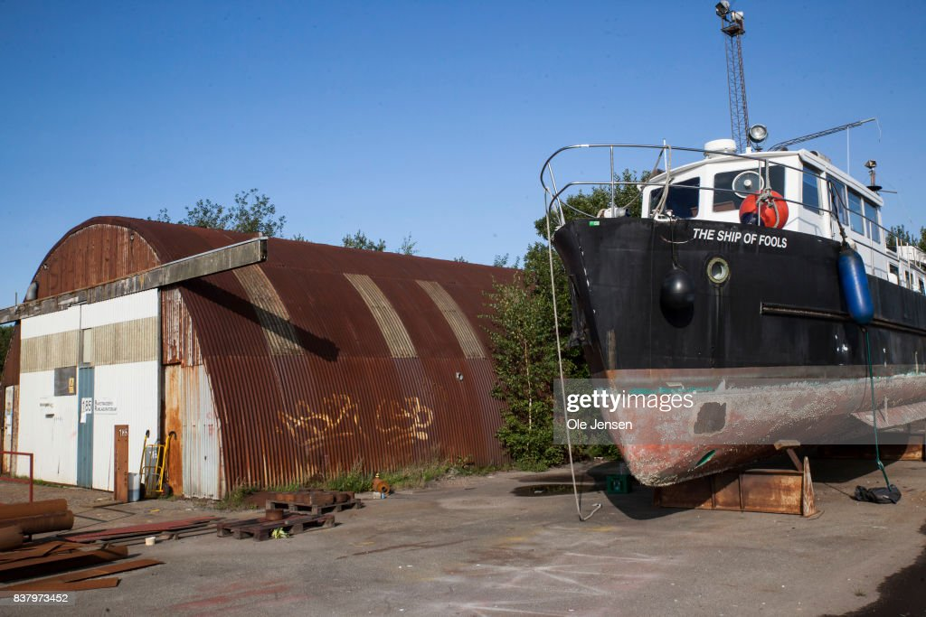The premises of Peter Madsen, who is accused for killing Swedish journalist Kim Wall,was not only a submarine inventor but also developer of space rockets, which took place at these facilities at an old shipyard at the Refshale0en near the inner city on August 23, 2017 in Copenhagen, Denmark. The headless torso of Swedish journalist Kim Wall was found on the shore of Klydesoen south of Copenhagen, by a cyclist on Monday 21st August. She had previously boarded the homemade submarine, Nautilus, of Inventor Peter Madsen to research a feature. Madsen denies manslaughter and initially said he dropped her to shore alive but changed his story admitting she died in an accident onboard.