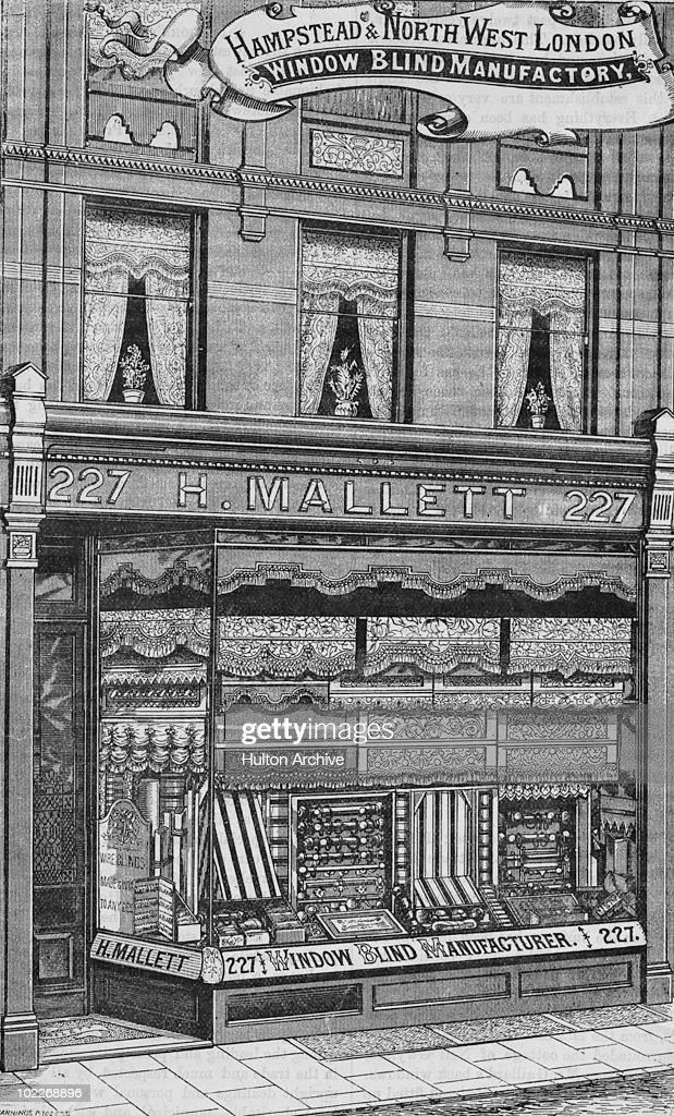 c2e153284b The premises of window blind manufacturer H. Mallet, London, circa ...