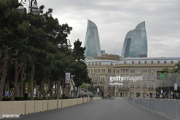 The preparation for the Formula One competition in Baku are underway as more and more constructions are getting built in the center of the townl The...