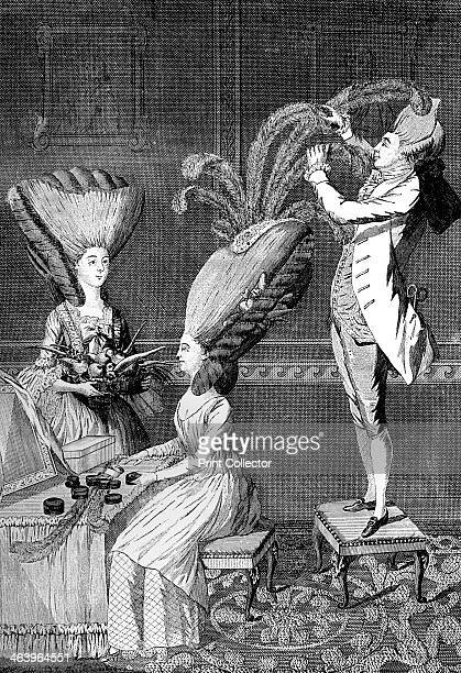 'The Preposterous Head Dress or The Feathered Lady' 1776 Illustration from Social Caricature in the Eighteenth Century With over two hundred...