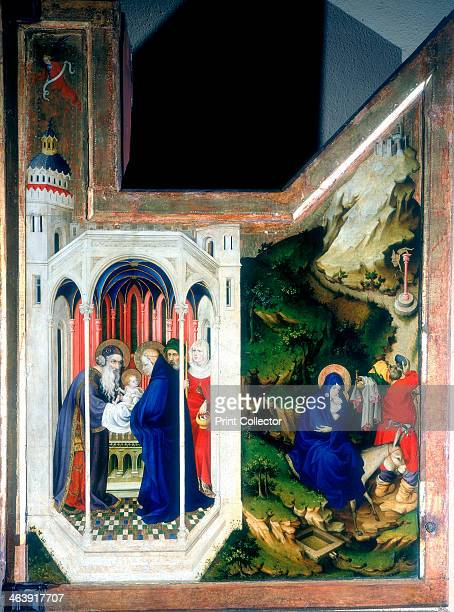 The Presentation at the Temple and the Flight Into Egypt', 1394-1399. Right-hand panel of an altar triptych from the Carthusian monastery, Dijon,...