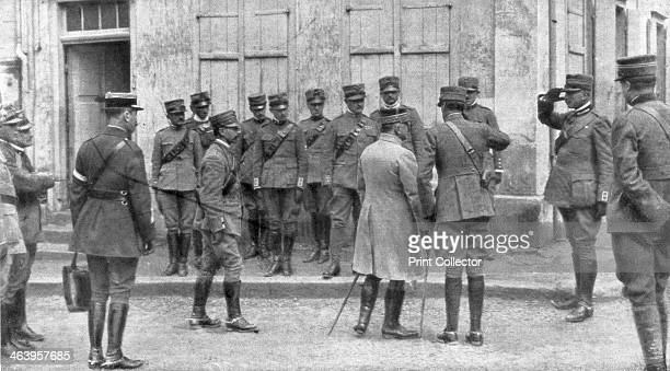 The presentation of General Franchet d'Esperey to an Italian envoy to France Champagne April 1918 Franchet d'Esperey commanded the French Northern...