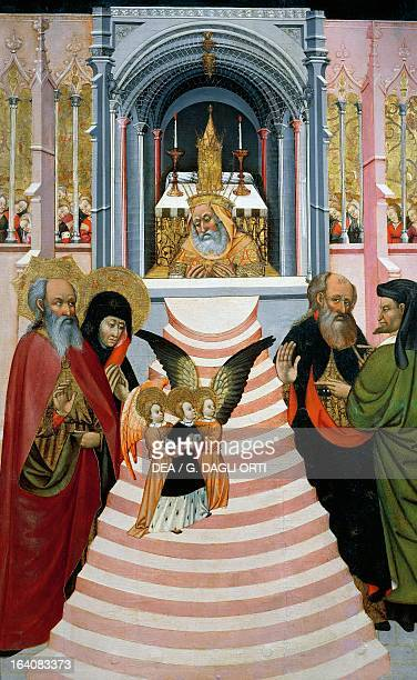 The Presentation of Mary in the Temple altarpiece from Verdu 143234 by Jaume Ferrer II known as The Younger oil on canvas 159x93 cm Vic Museu...