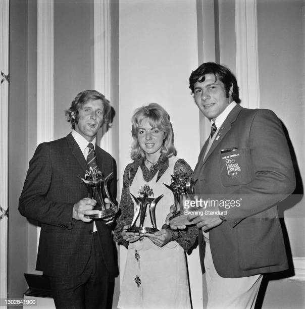 The presentation of the Andrew and Booth Olympics Awards to British winners at the Summer Olympics in Munich, UK, 25th September 1972. From left to...