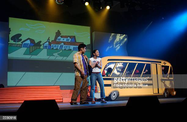 The presentation to sales executives and advertisers at the Nickelodeon 2002 Upfront at the Marriott Marquee in New York City 3/12/02 Photo by Frank...