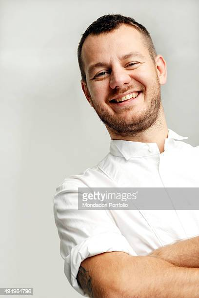 The presenter Alessandro Cattelan at Sky Studios during a photo shooting Alessandro Cattelan is one of the judges of the TV talent show X Factor...