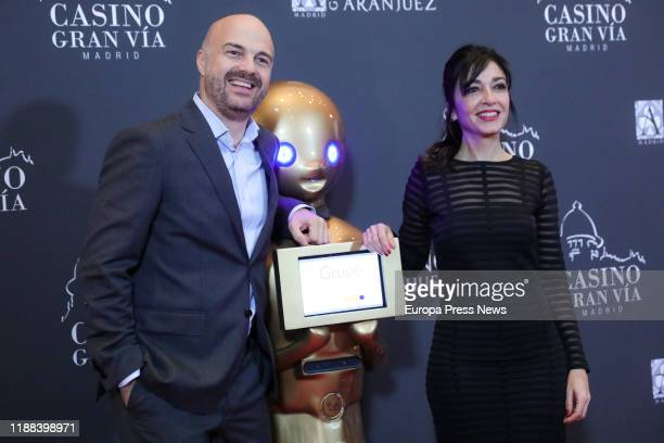 The presenter of '¡Buenos dias Javi y Mar' Javi Nieves and Mar Amate are seen at the 47th Gala of 'Antenas de Oro' Awards which hands over the...