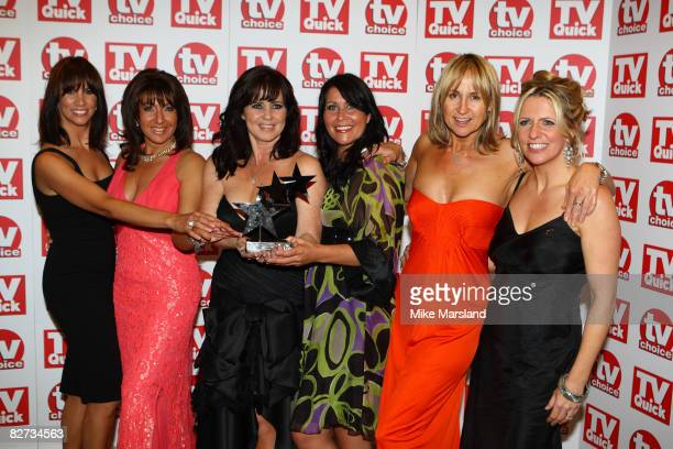 The presenters of Loose Women with the Best Daytime Show award at the TV Quick & TV Choice Awards at The Dorchester on September 8, 2008 in London,...