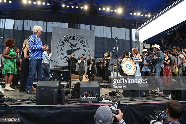 The Preservation Hall Jazz Band and more perform as part of ''65 Revisited' in celebration of the 50th anniversary of Bob Dylan going electric at...