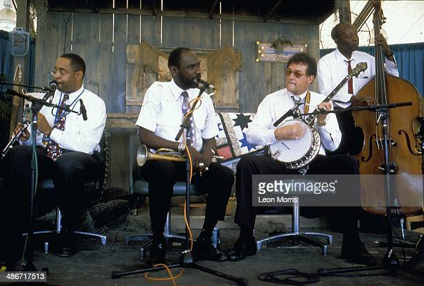 The Preservation Hall Jazz Band on stage at the New Orleans Jazz Festival Louisiana 1995