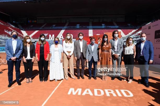 The president and CEO of Madrid Trophy Promotion, Gerard Tsobaniann; the mayor of Madrid, Jose Luis Martinez-Almeida; the deputy mayor of Madrid and...