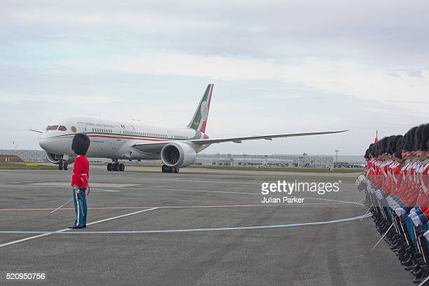The President and his wife arrive at Copenhagen Airport at the start on their visit to Denmark on April 13 2016 in Copenhagen Denmark