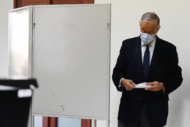 PRT: President Marcelo Rebelo De Sousa Casts Ballot In Portugal's Presidential Election