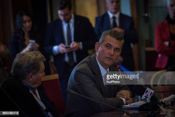 The President of AMA Lorenzo Bagnacani during 'Zero Waste' press conference in Rome Italy on 23 October 2017 With this aim Rome hosts until Thursday...
