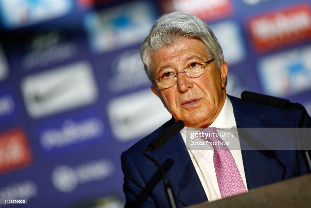 Presentation Of Atlético De Madrid New Football Player Marcos Llorente : News Photo