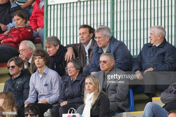 The president of Cagliari Calcio Massimo Cellino watchs the mathc during the Serie A match between Cagliari and Atalanta BC at Stadio Sant'Elia on...
