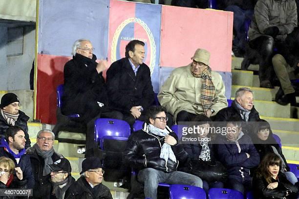 The president of Cagliari Massimo Cellino during the Serie A match between Cagliari Calcio and Hellas Verona FC at Stadio Sant'Elia on March 26 2014...