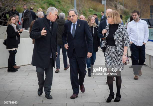 The president of Cataluña Quim Torra after the funeral of Diana Garrigosa wife of the former president of Cataluña Pasqual Maragall at the Sant...
