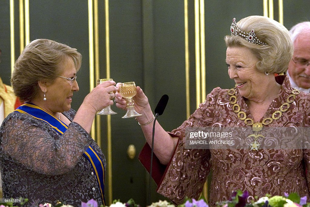 The President of Chile Michelle Bachelet : News Photo