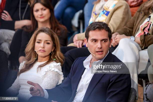 The president of Ciudadanos Albert Rivera and the spokeswoman for Equality of the party Patricia Reyes are seen during the presentation of the...