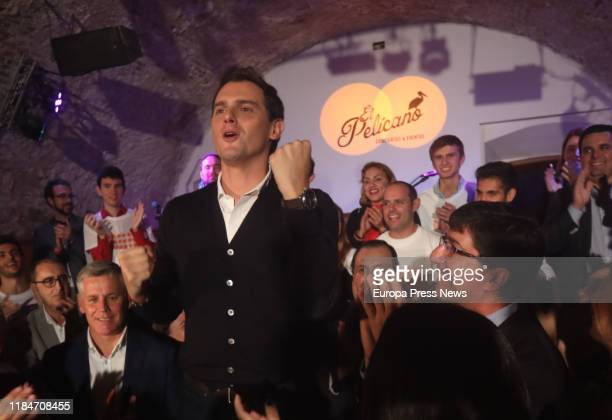 The president of Ciudadanos Albert Rivera is seen during his speech at the opening of the campaign on October 31 2019 in Cádiz Spain