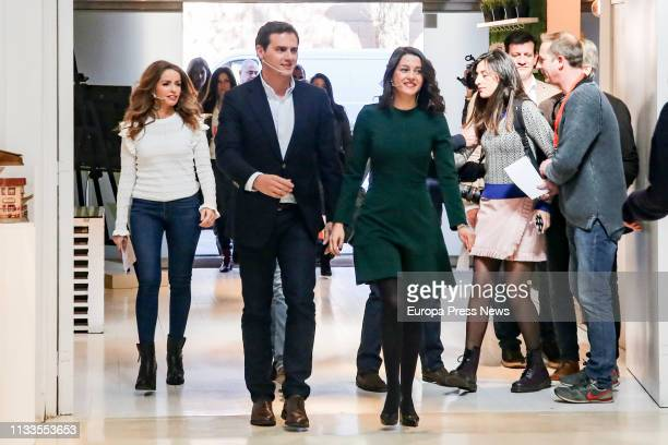 The president of Ciudadanos Albert Rivera the leader of the party in Catalonia Ines Arrimadas and the spokeswoman for Equality of Ciudadanos Patricia...