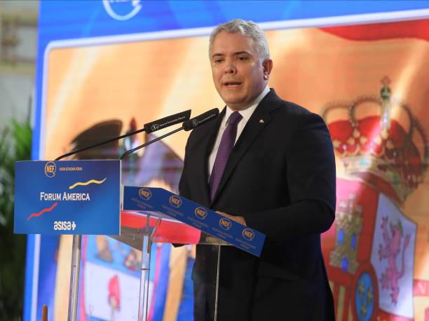 ESP: President of Colombia Ivan Duque Visits Madrid