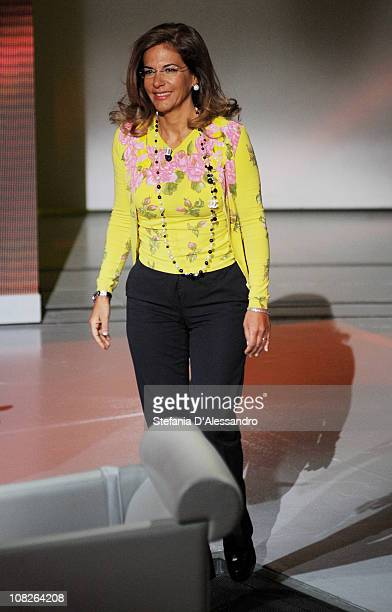 The President of Confindustria Emma Marcegaglia attends 'Che Tempo Che Fa' Italian Tv Show held at Rai Studios on January 23 2011 in Milan Italy