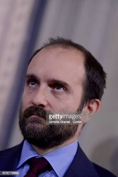 The President of Democratic Party Matteo Orfini speaks to the media after leaving the President Sergio Mattarella study during the third day of talks...
