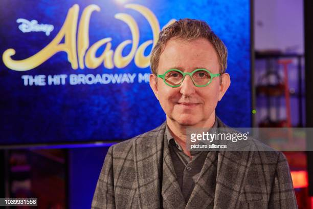 The president of Disney Theatrical Group Tom Schumacher poses during rehearsal for the musical 'Aladdin' at the Stage Theater Neue Flora...