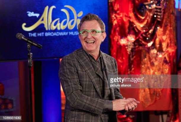 The president of Disney Theatrical Group Tom Schumacher speaks during rehearsal for the musical 'Aladdin' at the Stage Theater Neue Flora...