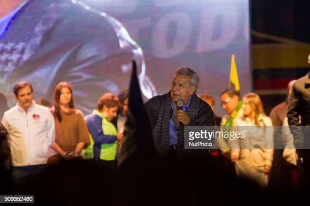 The president of Ecuador Lenin Moreno summoned to the south of Quito on 22 January 2018 a concentration of sympathizers to the regime to campaign...