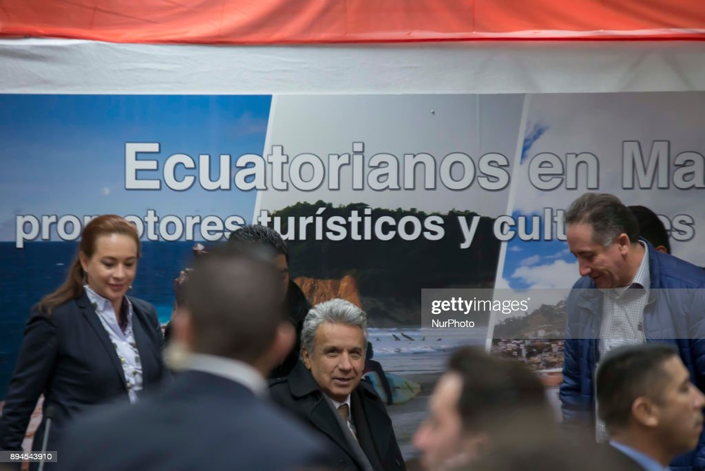 The President of Ecuador in Madrid