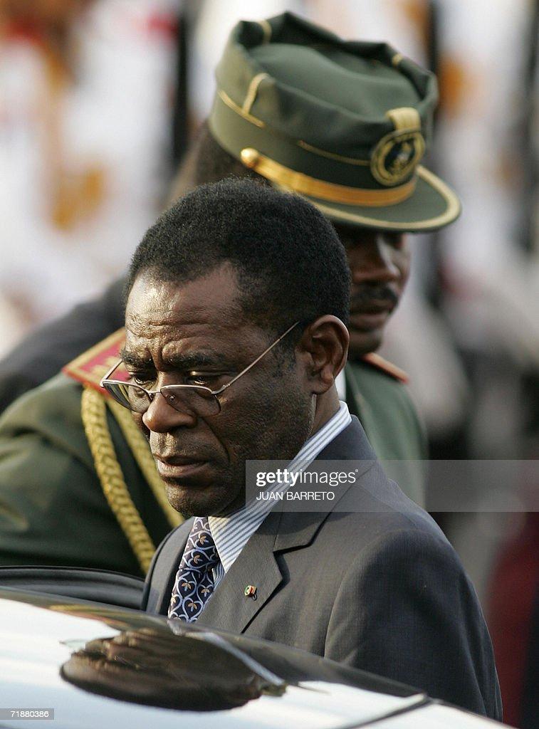 The President of Equatorial Guinea Obian : News Photo