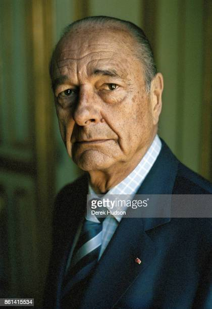 The President of France Jacques Chirac poses for a portrait at The Elysee Palace on July 25 2006 in Paris France