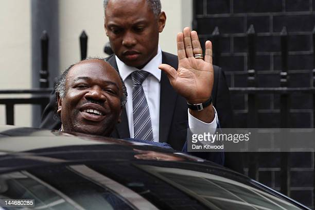 The President Of Gabon AliBen Bongo Ondimba leaves 10 Downing Street after a meeting with British Prime Minister David Cameron on May 17 2012 in...