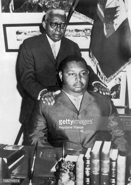 """The President Of Haiti Francois Duvalier """"Papa Doc"""" And His Son Jean-Claude """"Bebe Doc"""" In The Late 1960'S, At The Time When The Latter Was Designated..."""
