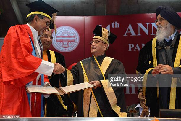 The President of India Shri Pranab Mukherjee attended the 64th convocation of Panjab University Chandigarh Punjab President Pranab Mukherjee on...