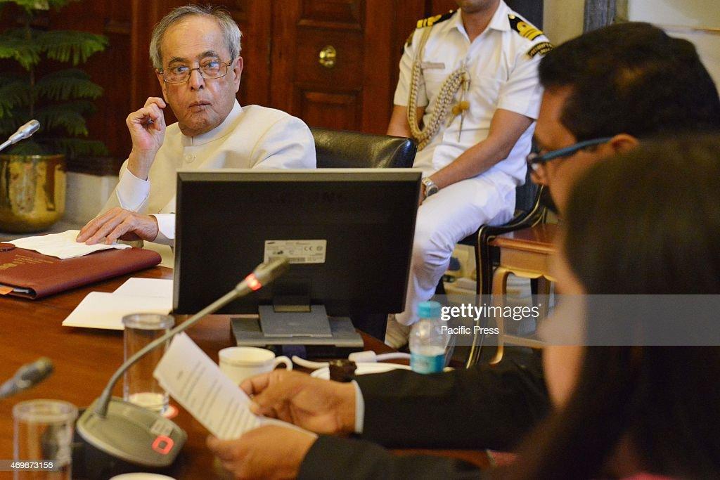 The President of India, Shri Pranab Mukherjee, meeting the