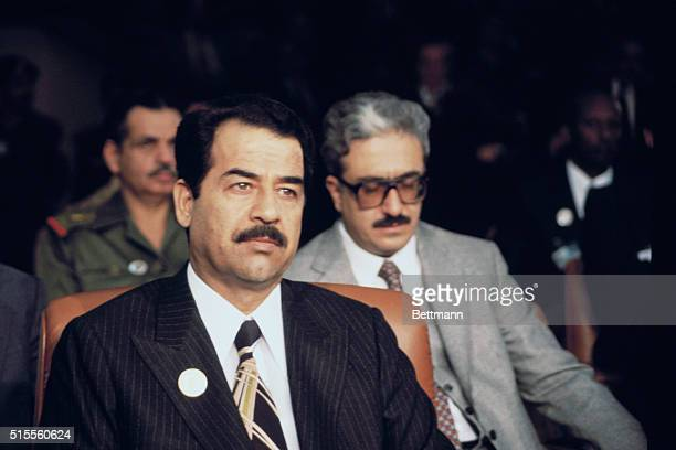 The president of Iraq Saddam Hussein in 1981