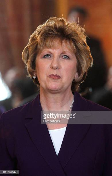 The President of Ireland Mary McAleese attends a lunch in her honour at The Royal Palace on March 21, 2011 in Madrid, Spain.