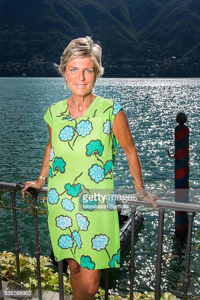 The president of Italian Government Tourist Board Evelina Christillin wearing a dress by Aspesi at the Forum Ambrosetti in Villa d'Este Cernobbio...