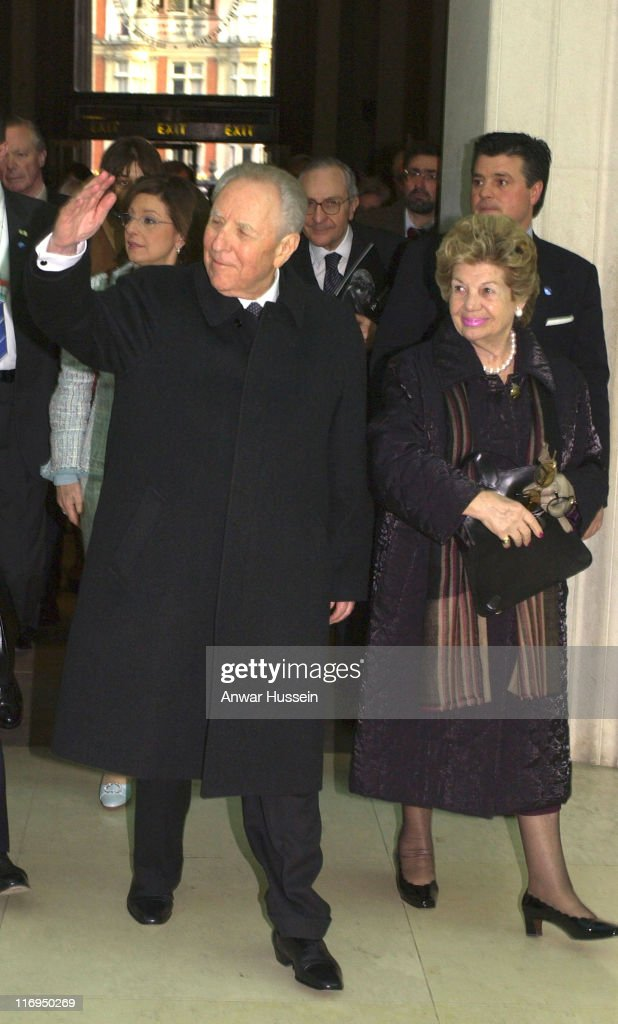 The President of Italy, Carlo Azeglio Ciampi and Signora Ciampi visit the British Museum to view the 'Spinario' on March 15, 2005 in London, England.