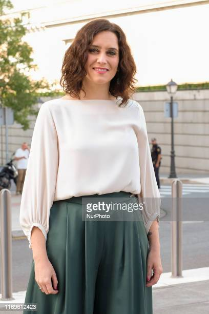 The president of Madrid Isabel Díaz Ayuso is seen during her speech for the 37 edition of Madrid Autumn Festival on September 19 2019 in Madrid Spain