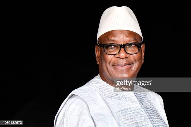 The president of Mali, Ibrahim Boubacar Keita at the International Ceremony of the Centenary of the Armistice of 1918 dinner at the Musée d'Orsay by...
