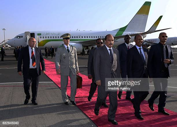 The President of Mauritania Abdel Aziz arrives at Bole International Airport ahead of the 28th African Union Summit in Addis Ababa Ethiopia on...