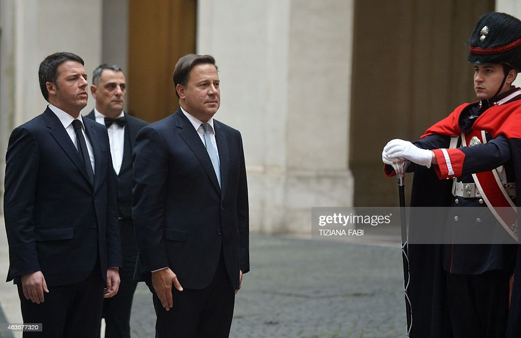 ITALY-PANAMA-RENZI-VARELA : News Photo